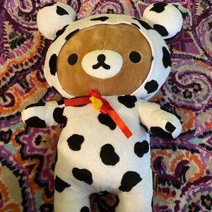 rilakkuma cow costume plush